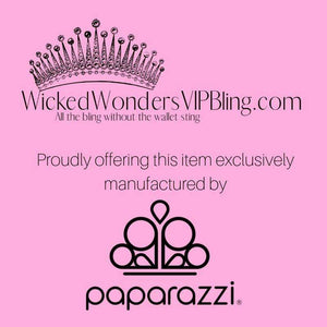 Wicked Wonders VIP Bling Earrings Exquisite Expense Copper Bling Pearl Hoop Earrings Affordable Bling_Bling Fashion Paparazzi