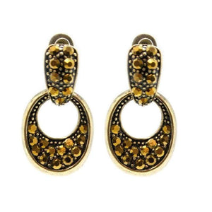 Wicked Wonders VIP Bling Earrings From the Small Screen Brass Post Earring Affordable Bling_Bling Fashion Paparazzi