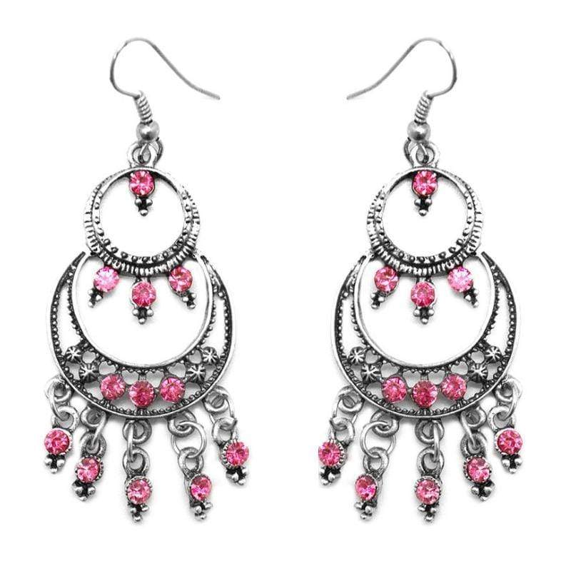 Wicked Wonders VIP Bling Earrings Girls Night Out Pink Earring Affordable Bling_Bling Fashion Paparazzi
