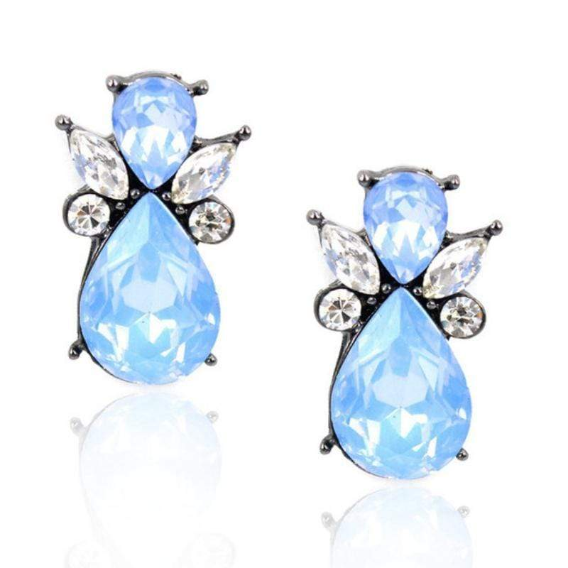 Wicked Wonders VIP Bling Earrings Glass Angels Ice Blue Gem Earrings Affordable Bling_Bling Fashion Paparazzi