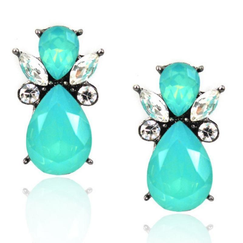 Wicked Wonders VIP Bling Earrings Glass Angels Ice Green Gem Earrings Affordable Bling_Bling Fashion Paparazzi