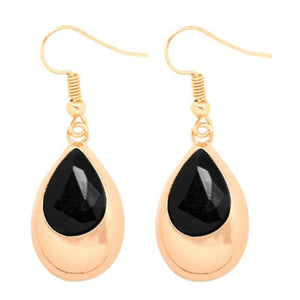 Wicked Wonders VIP Bling Earrings Glowing With Beauty Gold and Black Earrings Affordable Bling_Bling Fashion Paparazzi