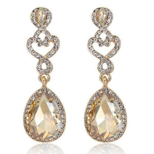 Wicked Wonders VIP Bling Earrings Golden Drop of Luxury Gem Earrings Affordable Bling_Bling Fashion Paparazzi