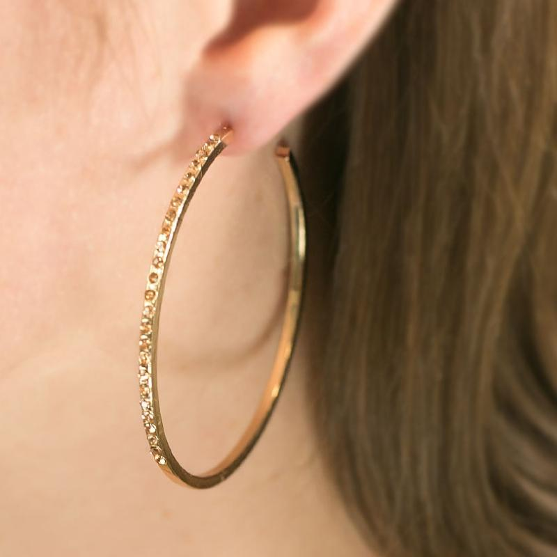 Wicked Wonders VIP Bling Earrings Guest of Honor Gold Hoop Earring Affordable Bling_Bling Fashion Paparazzi