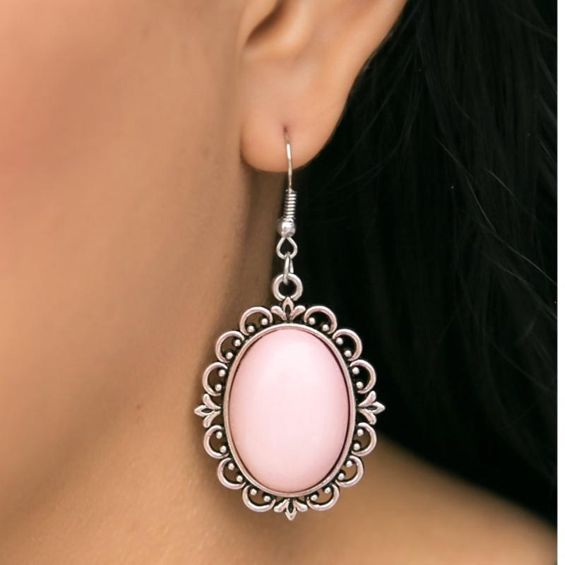 Wicked Wonders VIP Bling Earrings High-Class Affair Pink Earrings Affordable Bling_Bling Fashion Paparazzi