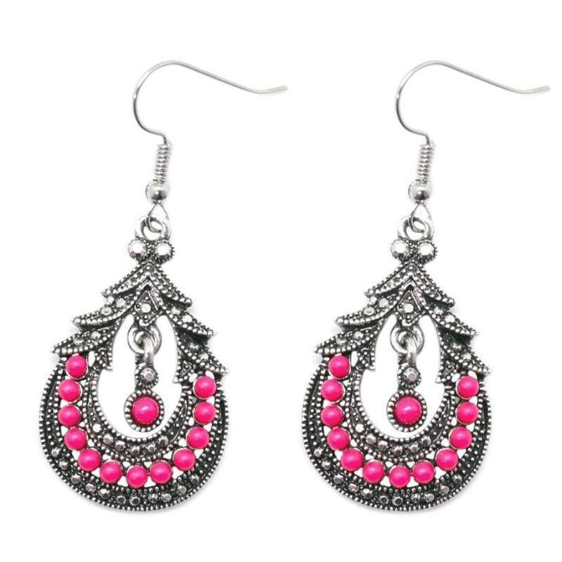 Wicked Wonders VIP Bling Earrings Holi Pink Earrings Affordable Bling_Bling Fashion Paparazzi