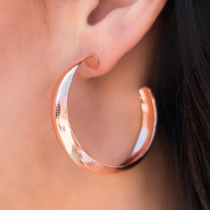 Wicked Wonders VIP Bling Earrings Hoop-ed Up Copper Hoop Earrings Affordable Bling_Bling Fashion Paparazzi