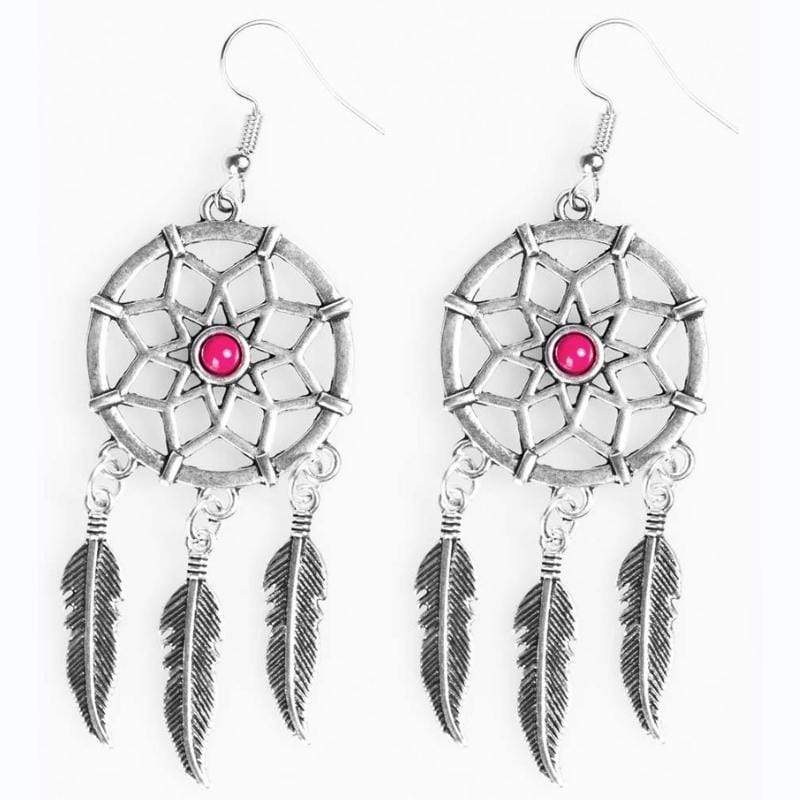 Wicked Wonders VIP Bling Earrings How Dreamy Pink Earrings Affordable Bling_Bling Fashion Paparazzi