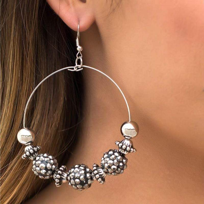 Wicked Wonders VIP Bling Earrings I Can Take a Compliment Silver Earring Affordable Bling_Bling Fashion Paparazzi