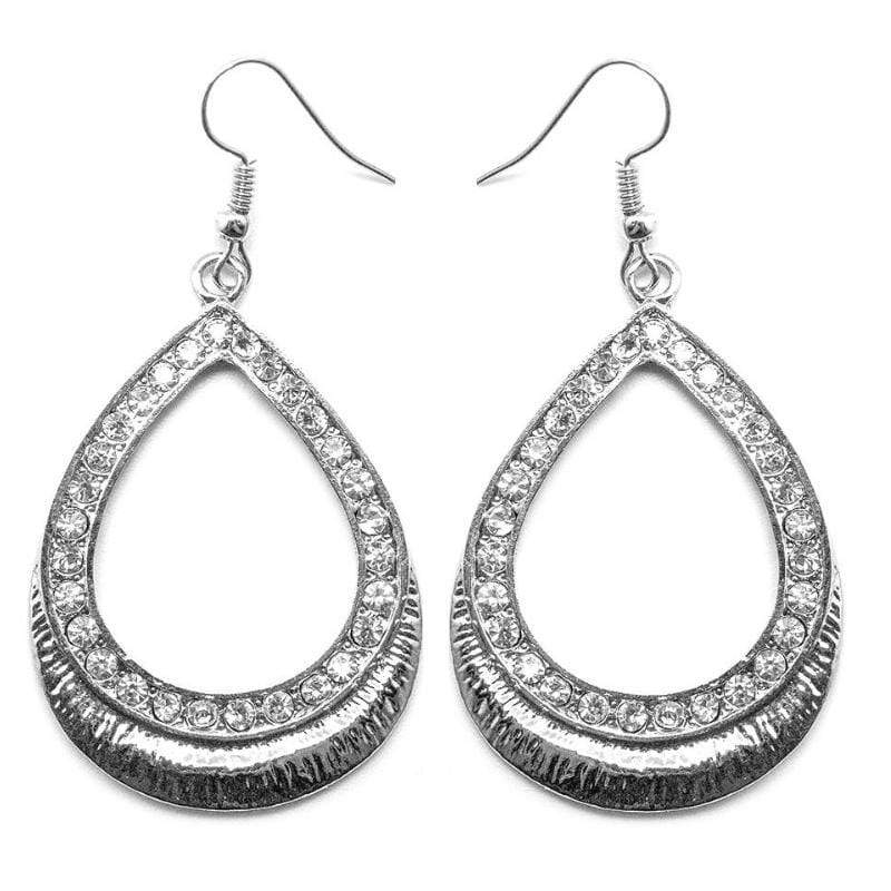 Wicked Wonders VIP Bling Earrings I'm Calling Your Bluff Silver and White Rhinestone Earrings Affordable Bling_Bling Fashion Paparazzi