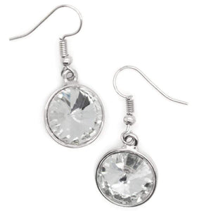 Wicked Wonders VIP Bling Earrings I Want to Be a Millionaire White Gem Earrings Affordable Bling_Bling Fashion Paparazzi