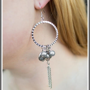 Wicked Wonders VIP Bling Earrings In With the New Silver Earrings Affordable Bling_Bling Fashion Paparazzi