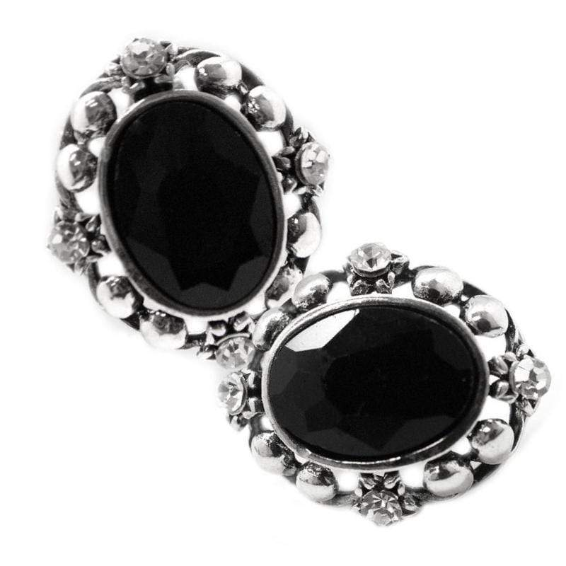 Wicked Wonders VIP Bling Earrings Isn't She Dashing Black Gem Post Earrings Affordable Bling_Bling Fashion Paparazzi