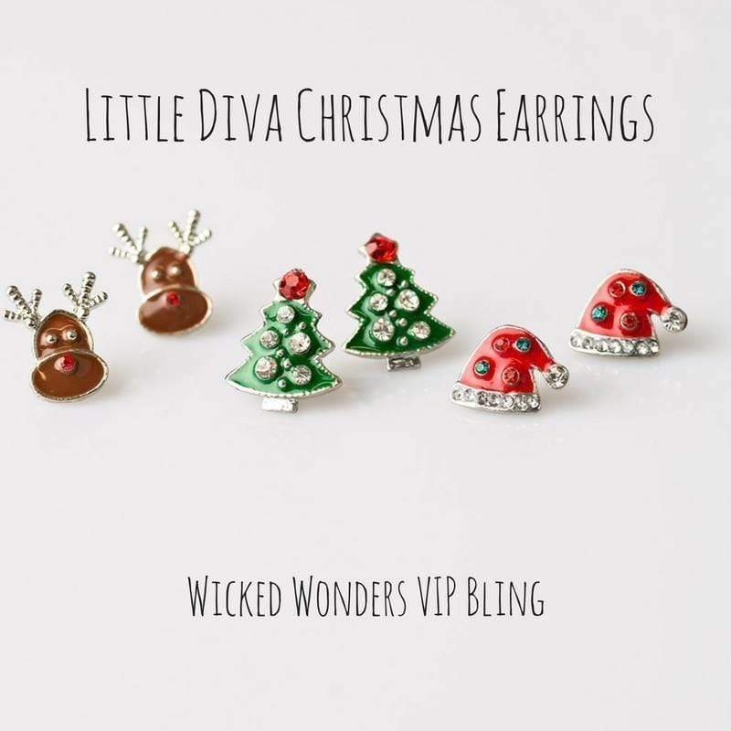 Wicked Wonders VIP Bling Earrings Little Diva Christmas Earrings Affordable Bling_Bling Fashion Paparazzi