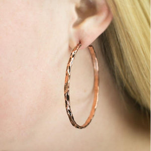 Wicked Wonders VIP Bling Earrings Lookin' Sharp Copper Hoop Earrings Affordable Bling_Bling Fashion Paparazzi
