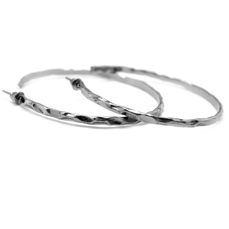 Wicked Wonders VIP Bling Earrings Lookin' Sharp Gunmetal Black Hoop Earrings Affordable Bling_Bling Fashion Paparazzi
