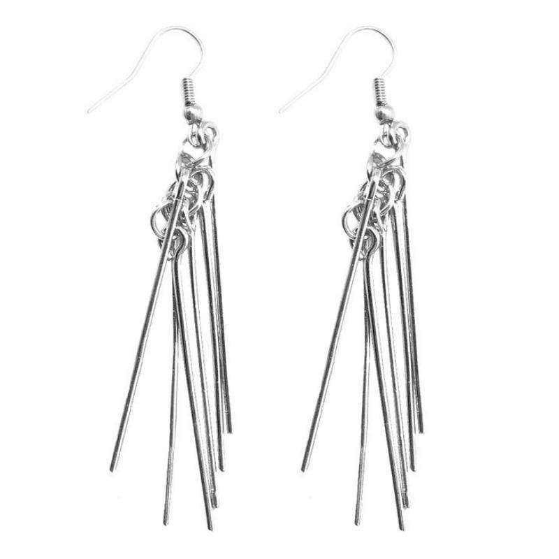 Wicked Wonders VIP Bling Earrings Looks Can Be Deceiving Silver Earrings Affordable Bling_Bling Fashion Paparazzi