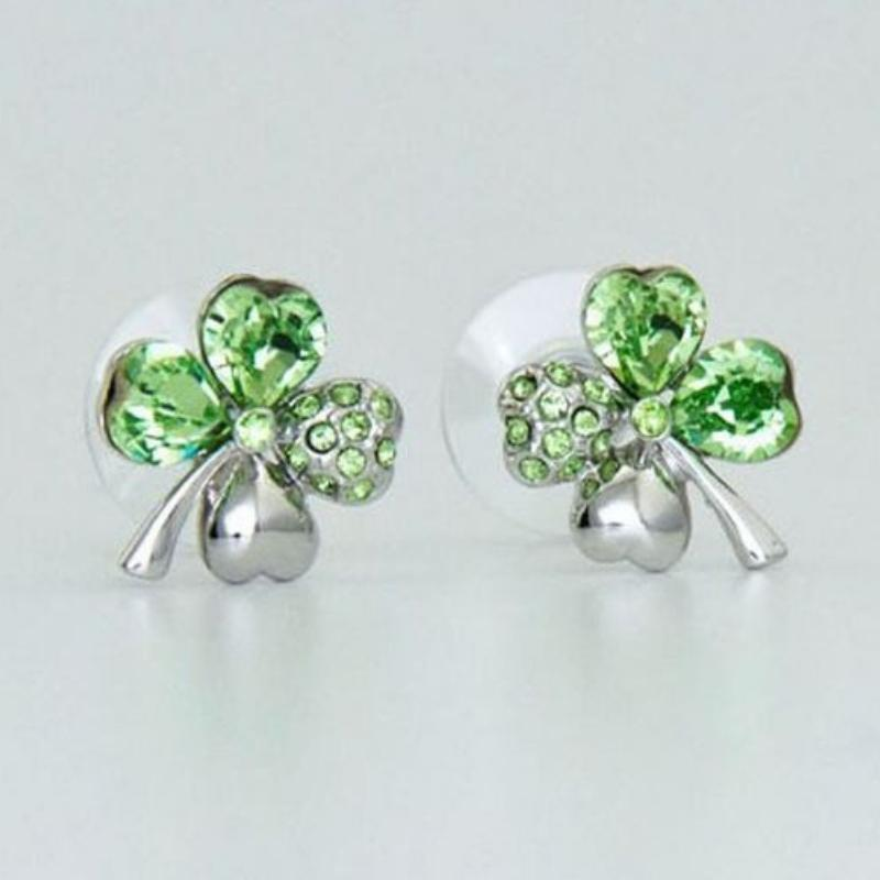 Wicked Wonders VIP Bling Earrings Luck of the Irish Dainty Green Gem Earrings Affordable Bling_Bling Fashion Paparazzi