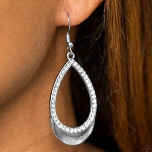 Wicked Wonders VIP Bling Earrings Make It REIGN White Rhinestone Earrings Affordable Bling_Bling Fashion Paparazzi
