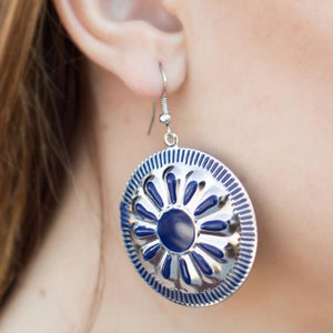 Wicked Wonders VIP Bling Earrings Make It Shine Blue Earrings Affordable Bling_Bling Fashion Paparazzi
