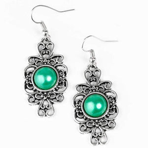 Wicked Wonders VIP Bling Earrings Meet and Greet Green Earrings Affordable Bling_Bling Fashion Paparazzi
