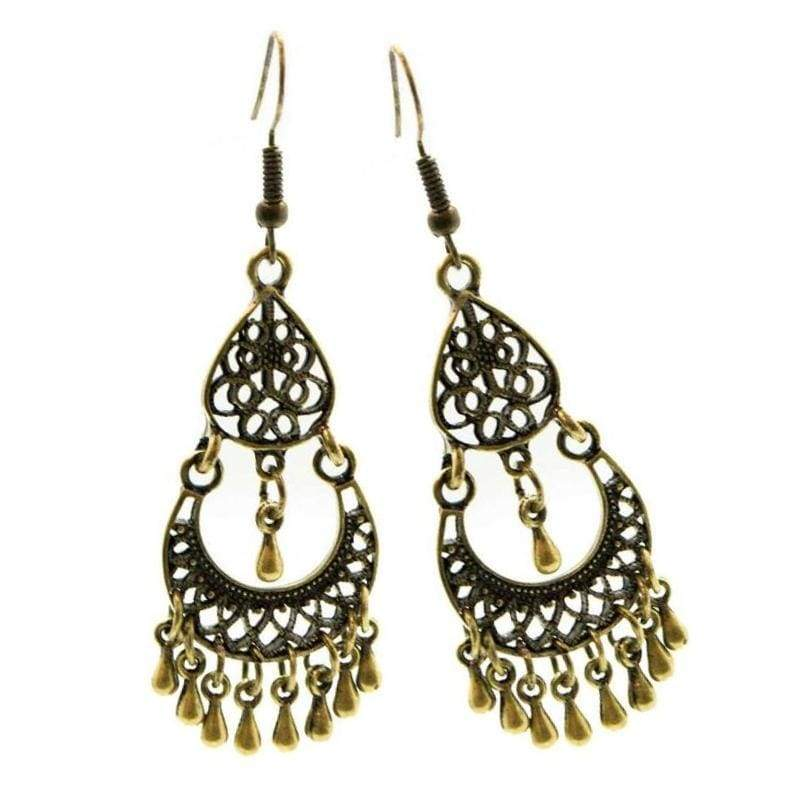 Wicked Wonders VIP Bling Earrings Metallic Maven Brass Earrings Affordable Bling_Bling Fashion Paparazzi