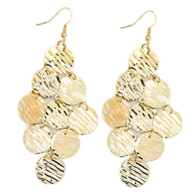 Wicked Wonders VIP Bling Earrings Metallic Pools Gold Earrings Affordable Bling_Bling Fashion Paparazzi