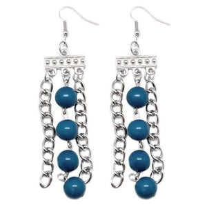Wicked Wonders VIP Bling Earrings Middle Ground Blue Earring Affordable Bling_Bling Fashion Paparazzi
