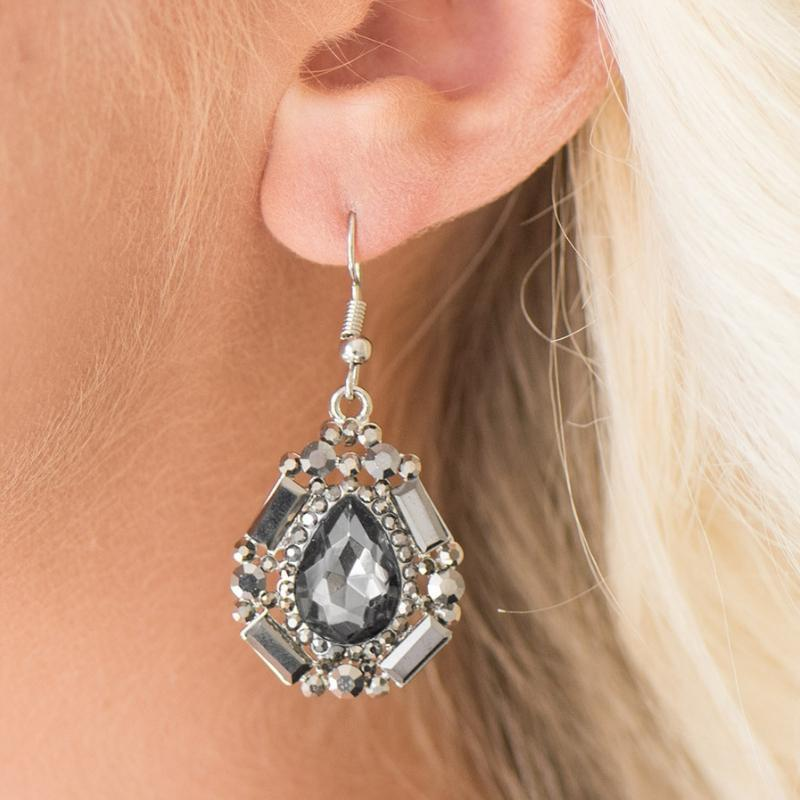 Wicked Wonders VIP Bling Earrings Movie Star Marvel Silver Gem Earrings Affordable Bling_Bling Fashion Paparazzi