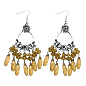 Wicked Wonders VIP Bling Earrings My Wish List Brown Earring Affordable Bling_Bling Fashion Paparazzi