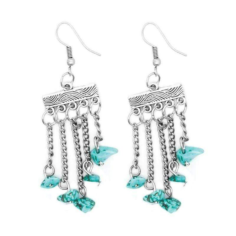 Wicked Wonders VIP Bling Earrings Natural-Born Bombshell Blue Earrings Affordable Bling_Bling Fashion Paparazzi
