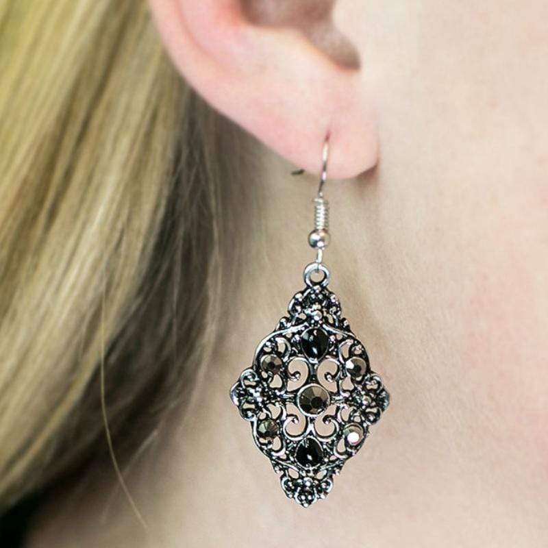 Wicked Wonders VIP Bling Earrings New York, New York Black Earring Affordable Bling_Bling Fashion Paparazzi