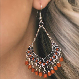 Wicked Wonders VIP Bling Earrings On a Magic Carpet Ride Orange Earrings Affordable Bling_Bling Fashion Paparazzi