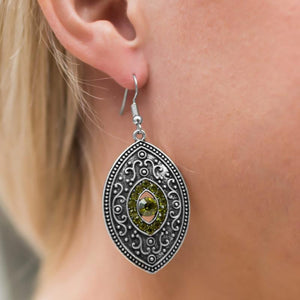 Wicked Wonders VIP Bling Earrings Once Upon A Princess Green Earrings Affordable Bling_Bling Fashion Paparazzi