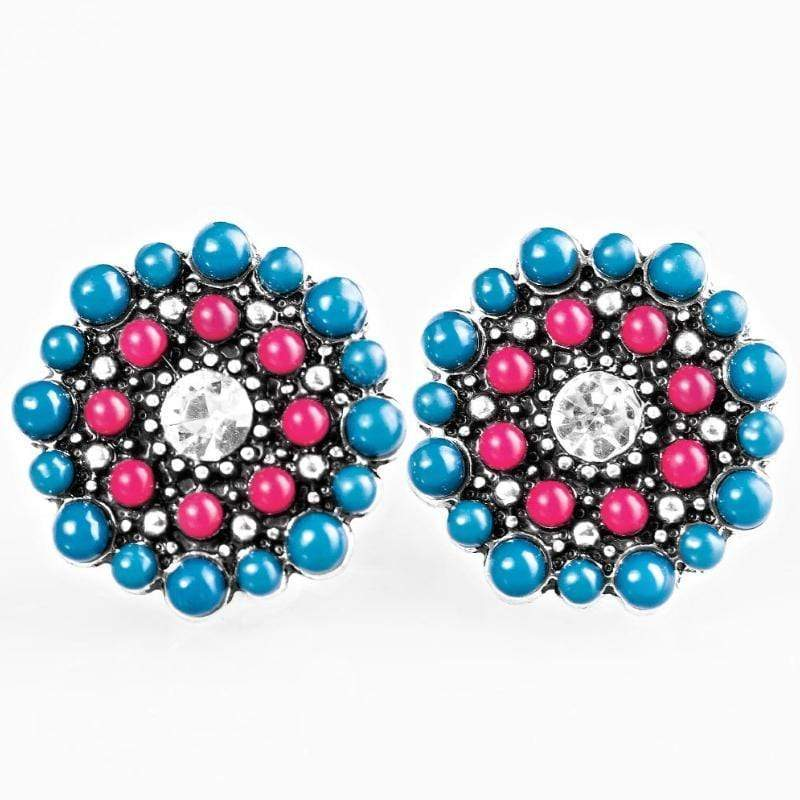 Wicked Wonders VIP Bling Earrings One Daisy Summer Multi Post Earrings Affordable Bling_Bling Fashion Paparazzi