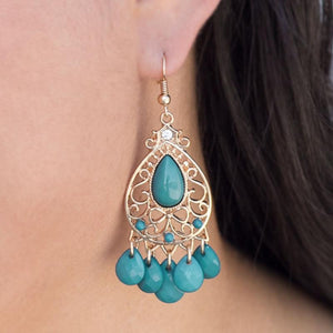 Wicked Wonders VIP Bling Earrings One Wish Blue Earrings Affordable Bling_Bling Fashion Paparazzi