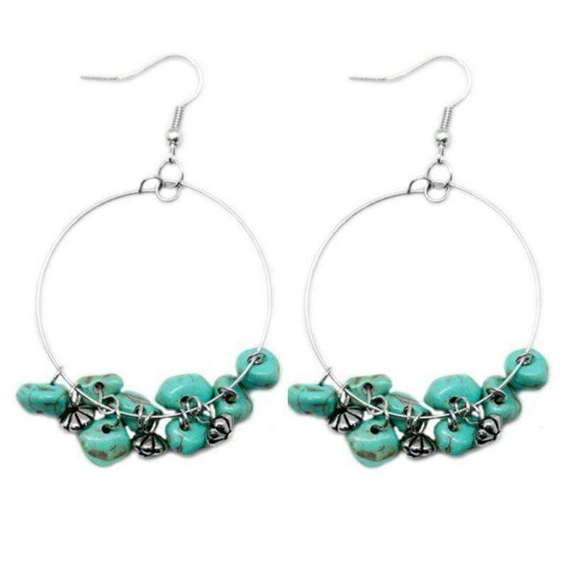 Wicked Wonders VIP Bling Earrings Pebble Beach Blue Earrings Affordable Bling_Bling Fashion Paparazzi