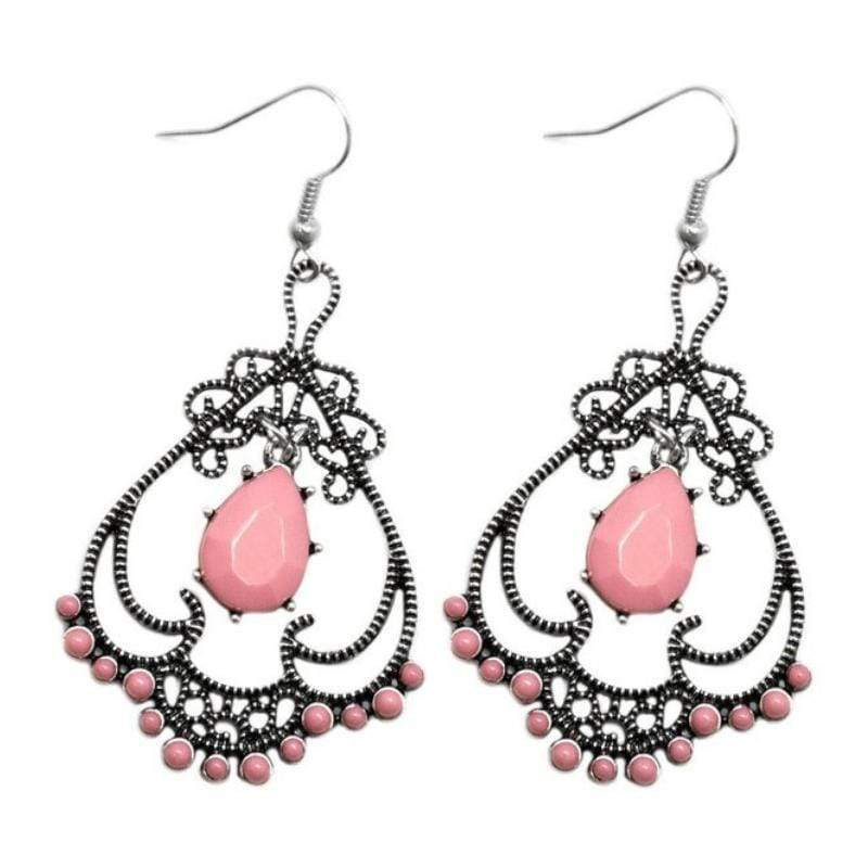 Wicked Wonders VIP Bling Earrings Queen of Spades Pink Earrings Affordable Bling_Bling Fashion Paparazzi