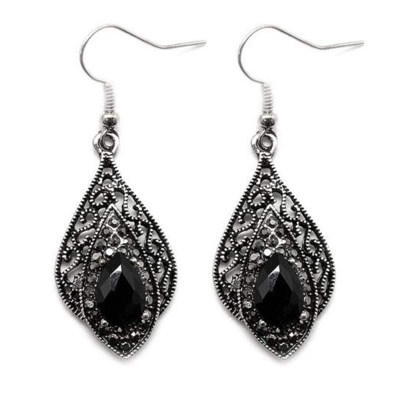 Wicked Wonders VIP Bling Earrings Quite Queenly Black Earrings Affordable Bling_Bling Fashion Paparazzi