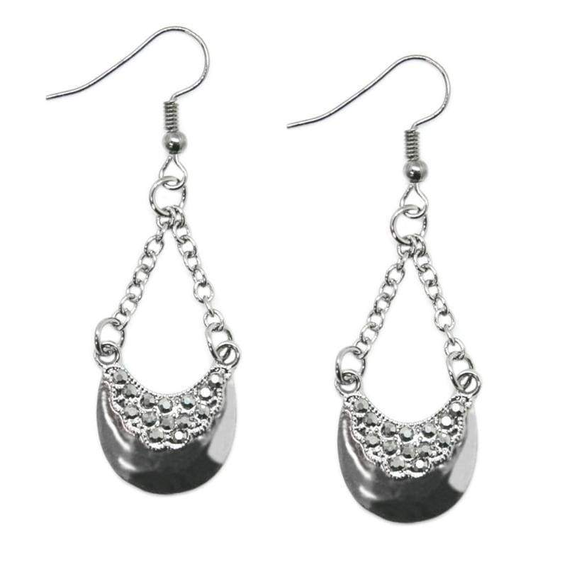 Wicked Wonders VIP Bling Earrings Right This Sway Silver Earrings Affordable Bling_Bling Fashion Paparazzi