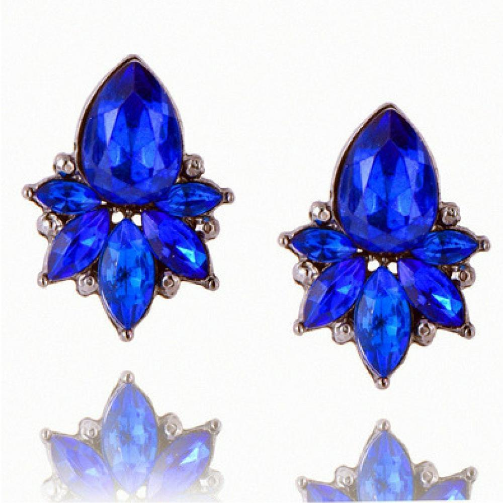 Wicked Wonders VIP Bling Earrings Rocket Gems Blue Earrings Affordable Bling_Bling Fashion Paparazzi