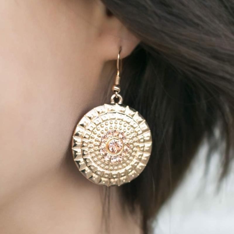 Wicked Wonders VIP Bling Earrings Royal Regatta Gold Earrings Affordable Bling_Bling Fashion Paparazzi