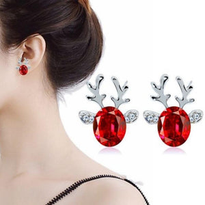 Wicked Wonders VIP Bling Earrings Rudolph the Gem Reindeer Post Earrings Affordable Bling_Bling Fashion Paparazzi