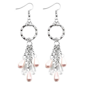 Wicked Wonders VIP Bling Earrings Sealed with a Kiss Pink Earrings Affordable Bling_Bling Fashion Paparazzi