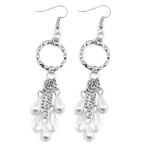 Wicked Wonders VIP Bling Earrings Sealed with a Kiss White Earrings Affordable Bling_Bling Fashion Paparazzi