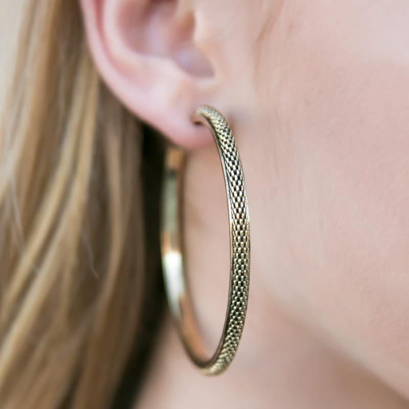 Wicked Wonders VIP Bling Earrings She-Devil Brass Hoop Earrings Affordable Bling_Bling Fashion Paparazzi