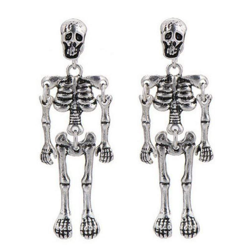 Wicked Wonders VIP Bling Earrings Skeleton Twins Silver Earrings Affordable Bling_Bling Fashion Paparazzi