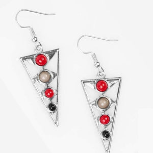 Wicked Wonders VIP Bling Earrings Slice of Life Multi-Colored Earrings Affordable Bling_Bling Fashion Paparazzi