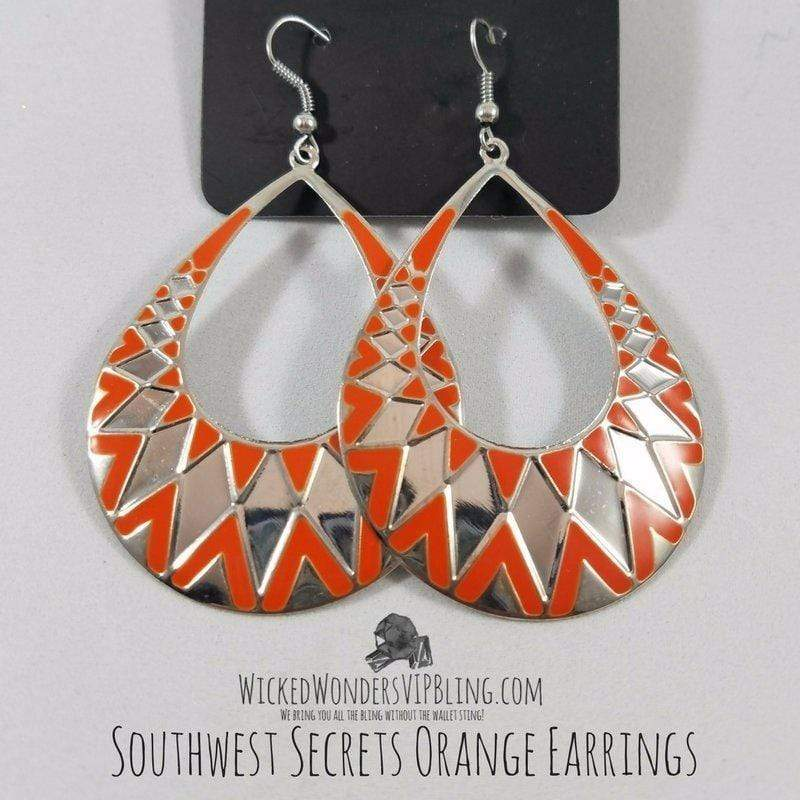 Wicked Wonders VIP Bling Earrings Southwest Secrets Orange Earrings Affordable Bling_Bling Fashion Paparazzi
