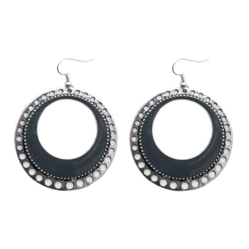 Wicked Wonders VIP Bling Earrings Spinning with Style Silver Gray Earrings Affordable Bling_Bling Fashion Paparazzi
